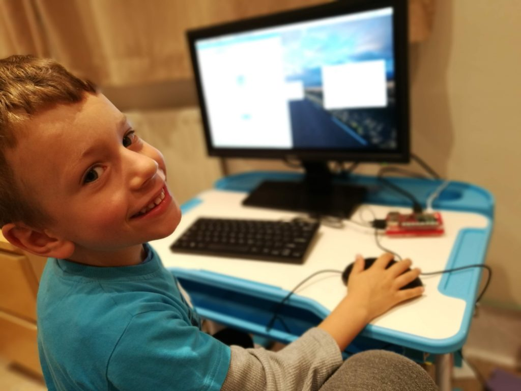 Working from home with kids - smile