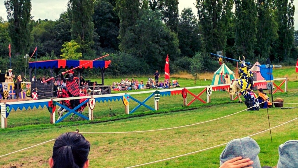 What I am doing now | enjoying jousting at Hever Castle